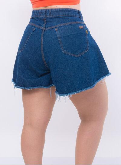 Short Plus Size Jeans Godê Barra Desfiada