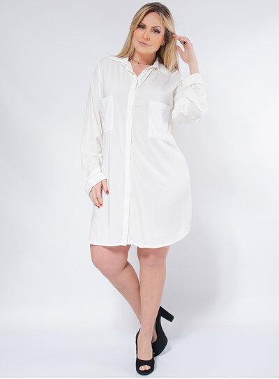 Vestido Chemise Plus Size Mullet