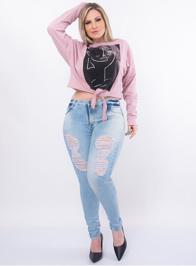 Casaco Cropped Plus Size