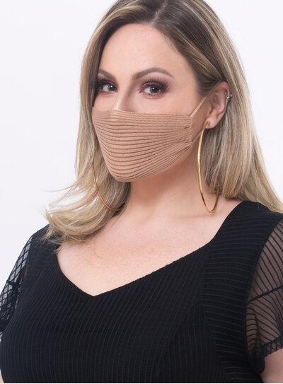 Máscara Canelada em Tricot