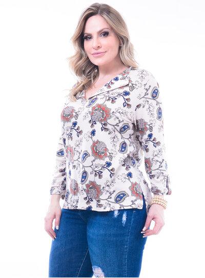 Blusa Plus Size Estampada