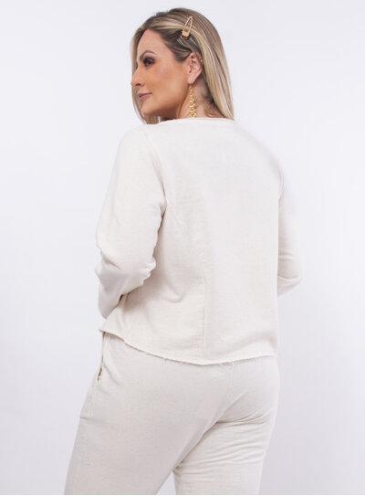 Casaco Plus Size Estampado