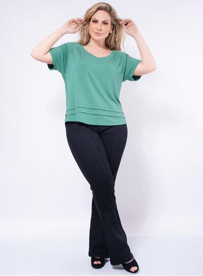 T-Shirt Plus Size Gola Careca