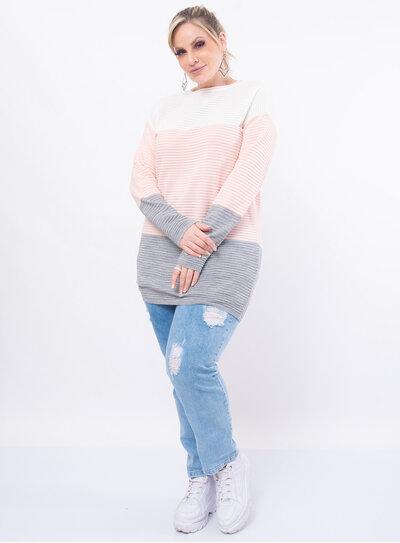 Blusa Plus Size Comprimento Longo