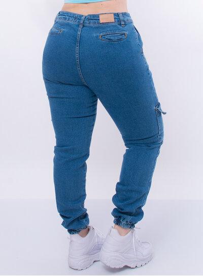 Calça Plus Size Jeans Jogger