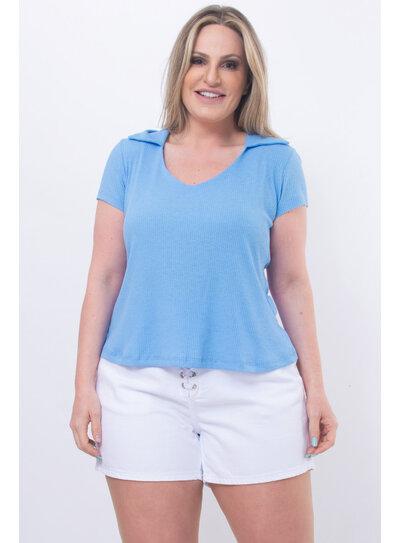Blusa Plus Size Gola V