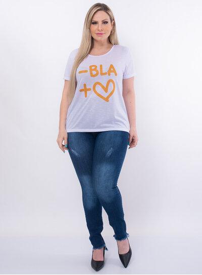 T-Shirt Plus Size Mais Amor