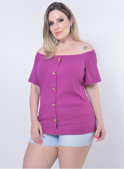 Blusa Plus Size Botões