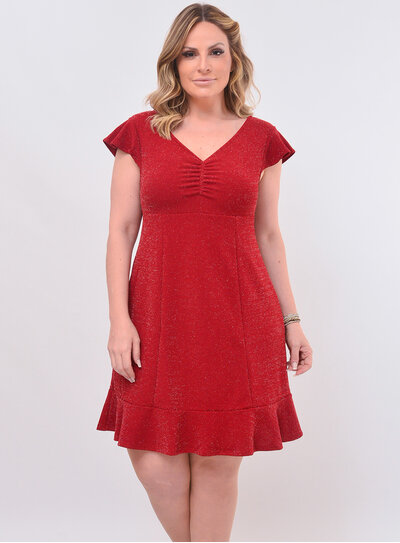 Vestido Plus Size Lurex