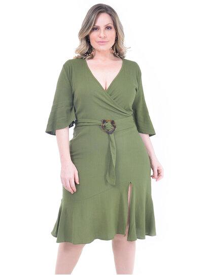 Vestido Plus Size Girassol