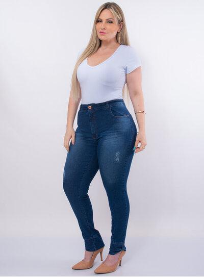 Calça Jeans Plus Size Barra Italiana