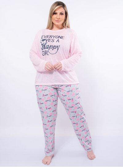 Pijama Plus Size Happy Girl