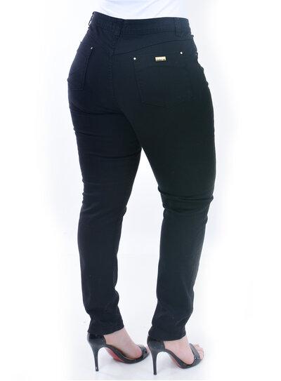 Calça Plus Size Jeans Preta