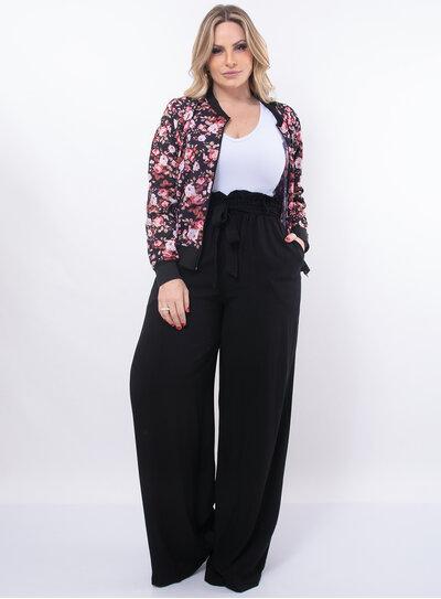Calça Plus Size Pantalona Clochard