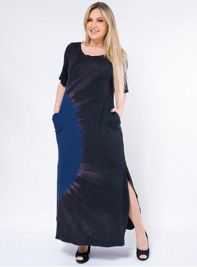 Vestido Plus Size Amplo Tie Dye