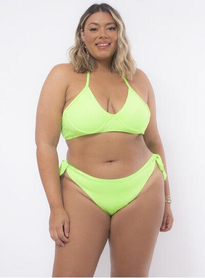 Biquíni Plus Size Verde Neon