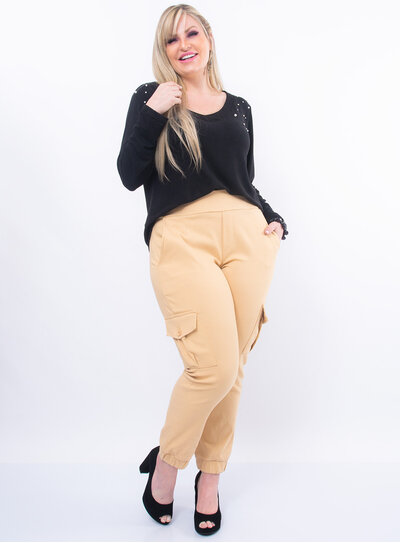 Blusa Plus Size em Lã