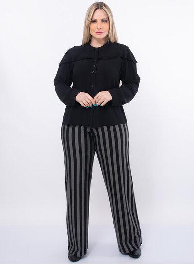 Blusa Plus Size Social com Botões