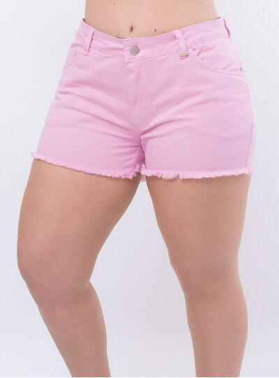 Short Jeans Plus Size Barra Desfiada