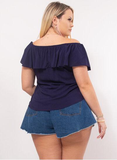 Blusa Plus Size Ombro a Ombro