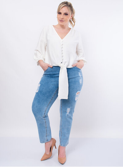 Cropped Plus Size Nó Frontal