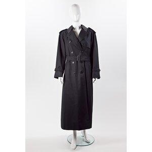 Trench Coat longo Buurberry em preto com forro