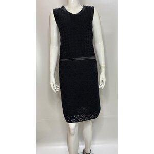 Vestido Chanel Preto em Malha/Seda