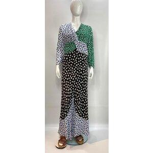 Vestido Rixo Longo em Seda Estampada