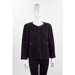 Blazer Chanel em tweed preto