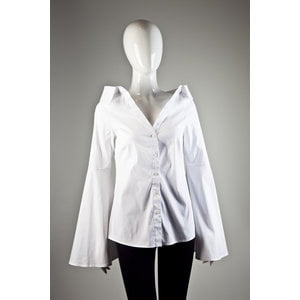 Camisa Carolina Constas em tecido branca