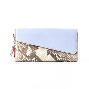 Carteira Dior Snakeskin Continental em natural e lilás