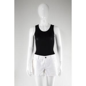 Short NK jeans com bordado branco