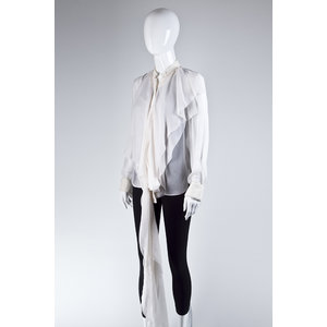 Camisa Alexander Wang Seda Off White