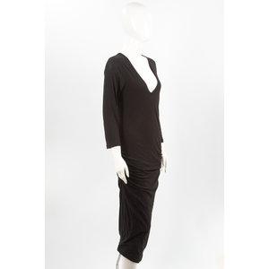 Vestido James Perse preto em malha