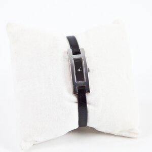 Relógio Gucci 3900 series em aço c/pulseira de couro