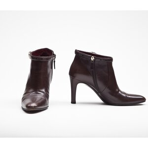 Ankle boot Gucci em couro marrom