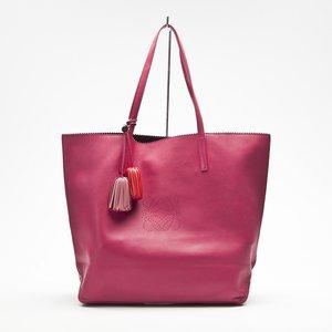 Shopping Bag Loeve em couro pink