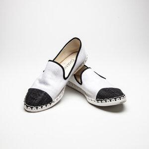 Espadrille Chanel Jeans Branco