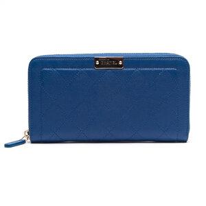 Carteira Chanel em Couro Azul