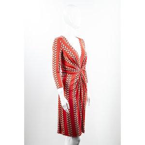 Vestido Issa em Jersey estampado com coral