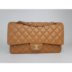 Bolsa Chanel 255 Double Flap Caramelo