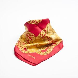 Lenço Chanel em seda estampado
