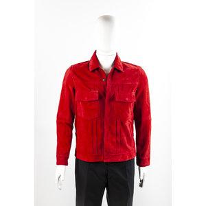 Jaqueta Emporio Armani em camurça vermelha