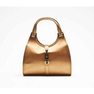 ... Bolsa Gucci em cetim dourado bbe35c0019