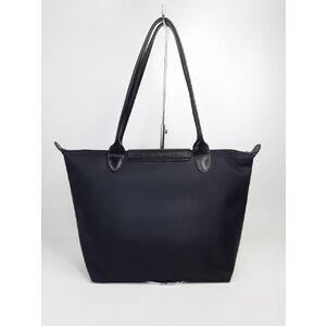 Bolsa Longchamp Nylon com Alça em Couro Preta