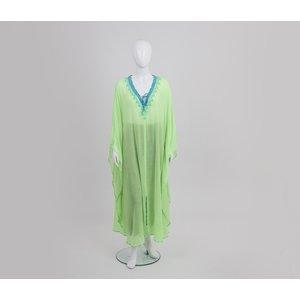 Caftan Nour longo verde água
