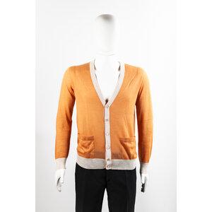 Cardigan Missoni em cashmere laranja