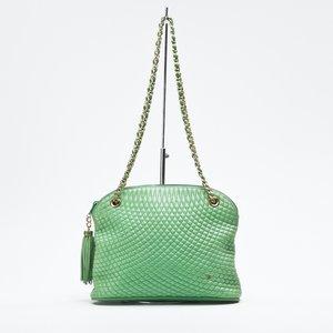 Bolsa Bally em couro verde
