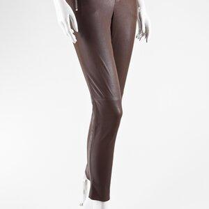 Legging Gucci em couro strech chocolate