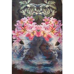 Echarpe Stella McCartney Cashmere e Seda Estampada Com Flores